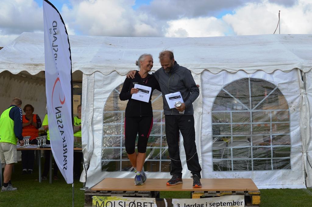 6 km (50+) vindere Thomas Thykjær og Hanne Høstrup