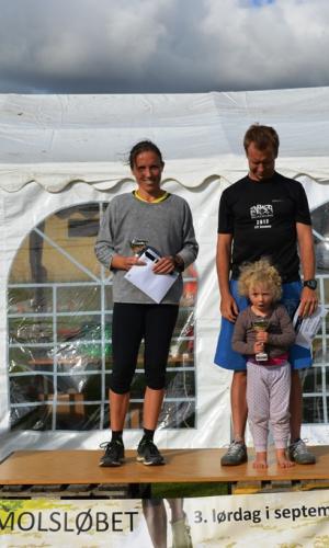 ½ maraton (15-49 år) Vindere Nanna Rolving og Søren Mellerup