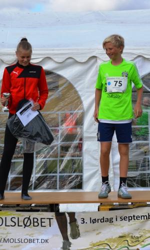 6 km (-14 år) Vindere Frederik Grotkjær Zacho og Katrine Bech Mikkelsen