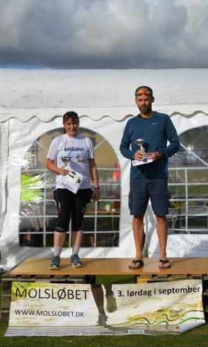 ½ maraton (50+) Vindere Bettina Nielsen og Per Bjerg