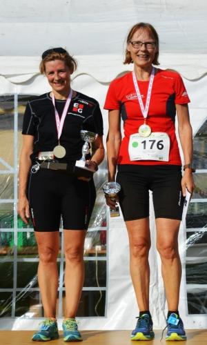 1 maraton kvinder Vindere Dorrit Thomhav Hørlyck (50+) og Susanne Brüchle Kodal (15-49 År)