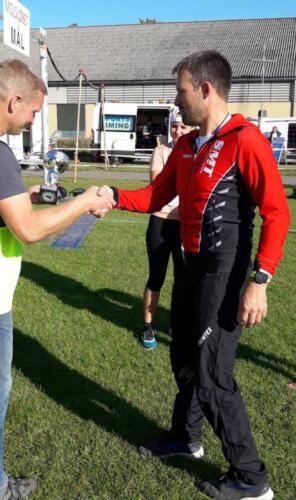 Foto Daniel Glob - vinder herrer 15-49 år halvmaraton - Peter Drejer