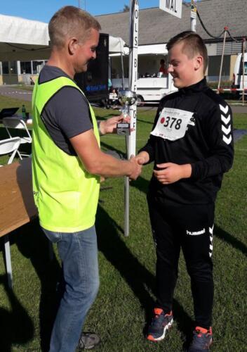 Foto Daniel Glob - vinder herrer under 15 år 11,4 km - Ferninand Boie
